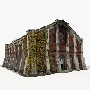 3ds max old industrial building