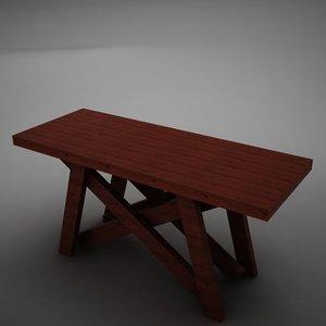 3d model dining room buffet table