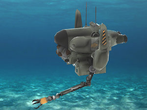 3d unity drone submarines