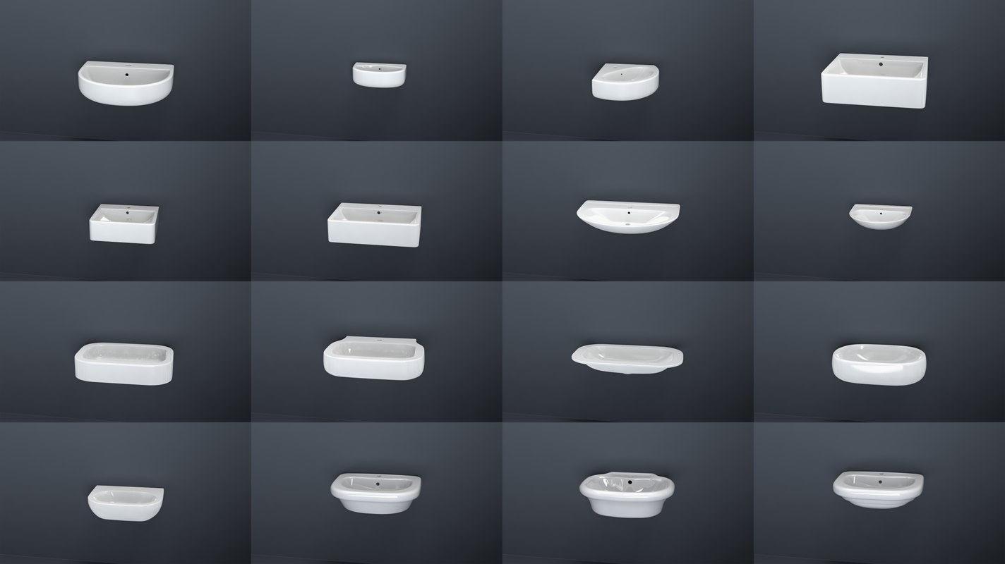 3d bathroom sinks model