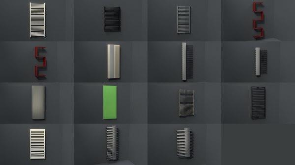 3d bathroom radiators heating blocks