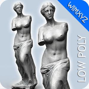venus milo statue 3d obj