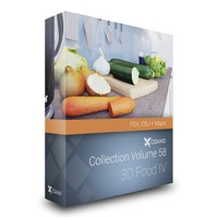 3D Food III – CGAxis Collection Volume 56 FBX OBJ