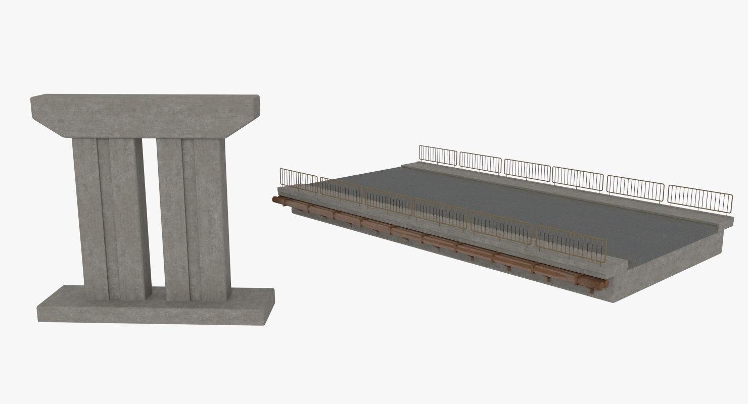 modular concrete bridge 3ds