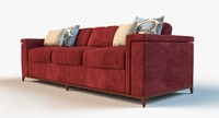 3d model designer lounge sofa
