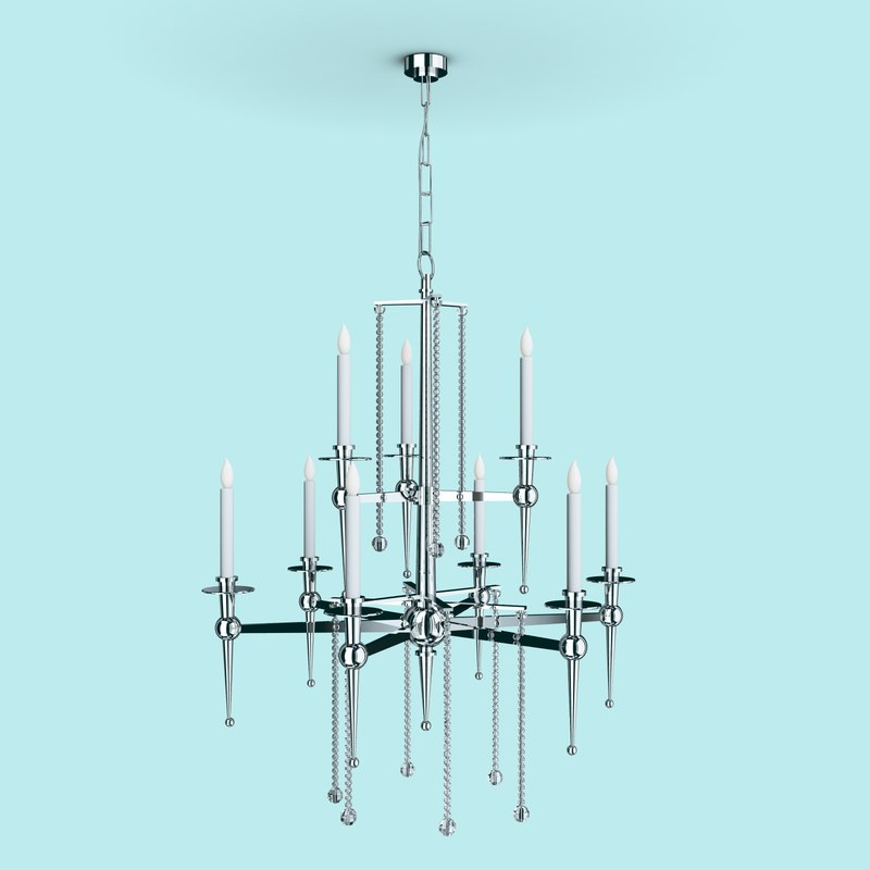 3d chandelier impex starlite