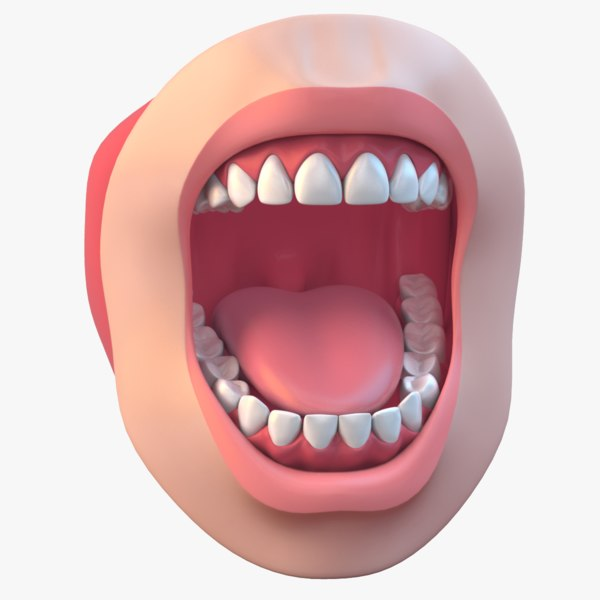 mouth realistic 3d obj