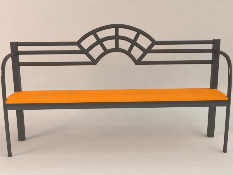 bench creation urban 3d max