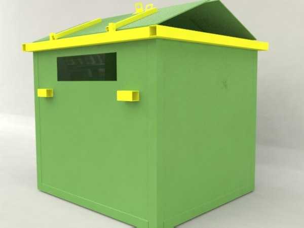 3dsmax garbage container
