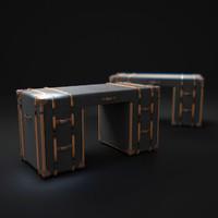 3d model richards -trunk-desk