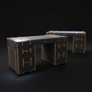 3d model richards -trunk-desk