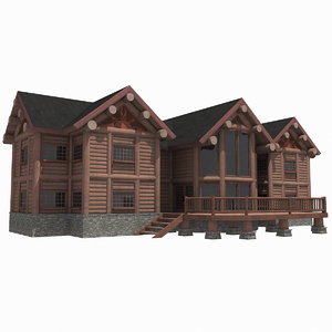- hd log house 3d max