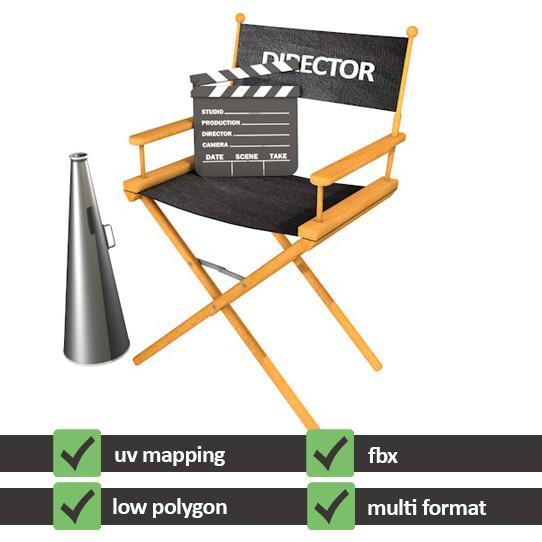 3d max director chair
