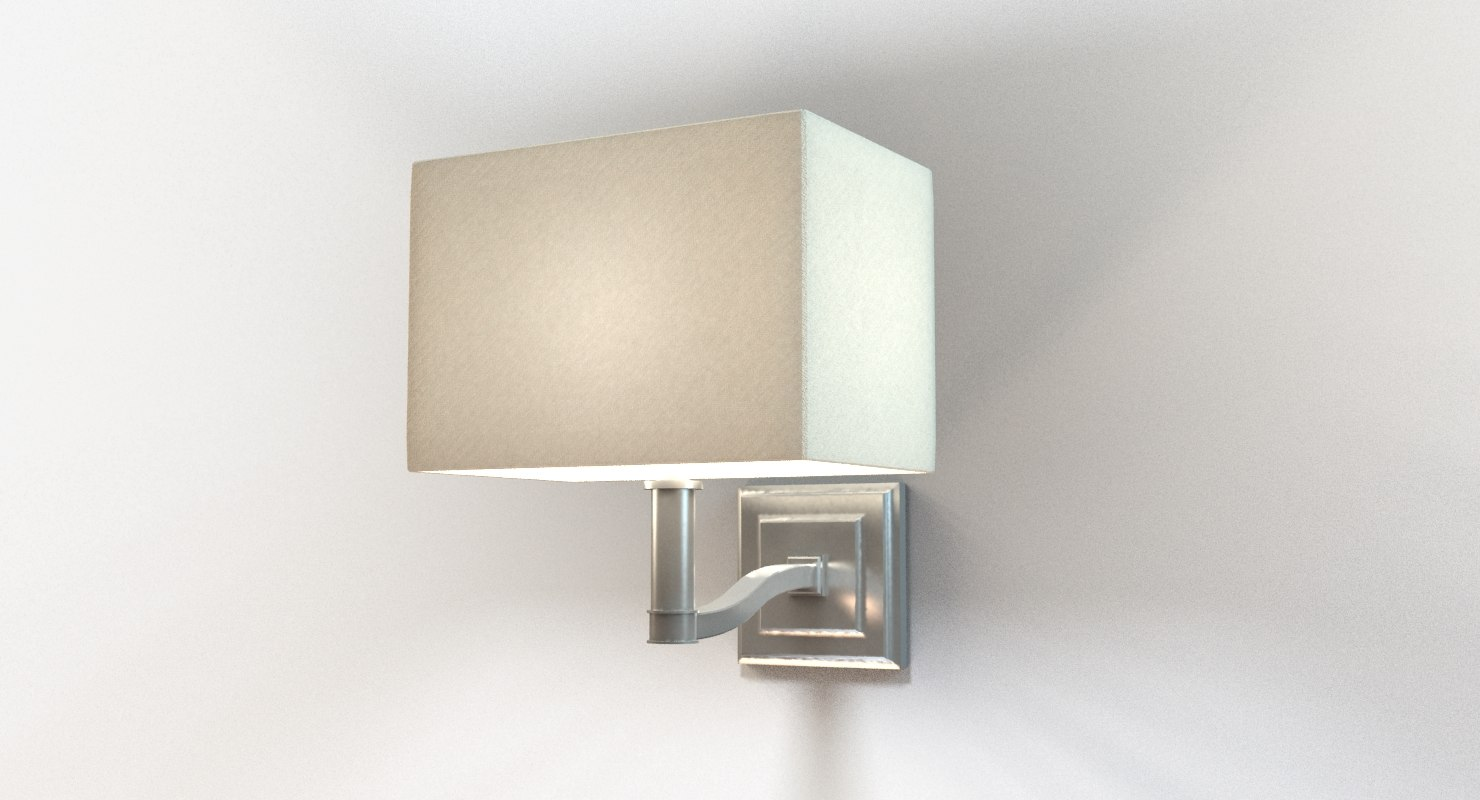 designer bedside wall sconce 3d model
