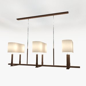 3d model designer chandelier light