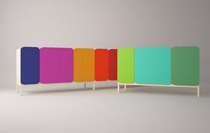 legato cabinets casamania 3d model