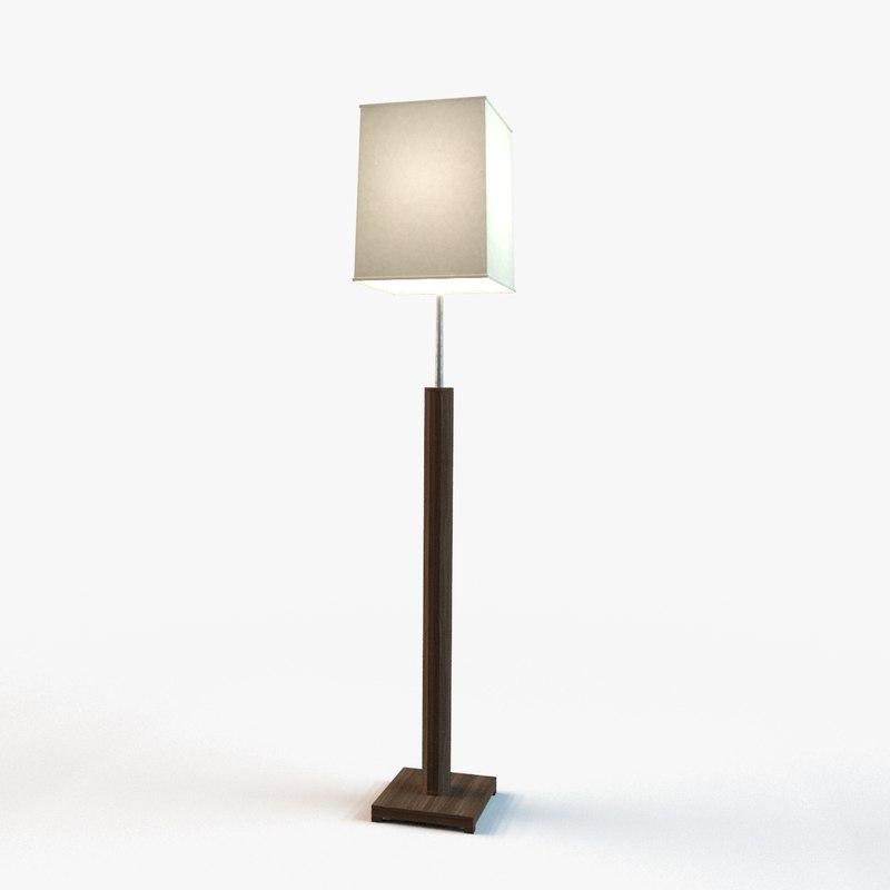 designer standing light 3d max
