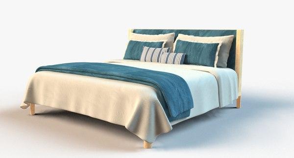 3d hotel bedset