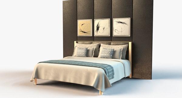 3dsmax hotel bedset