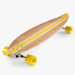 3d model of longboard 42 inch