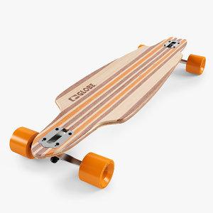 3d longboard 38 inch