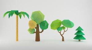 3ds cartoon toon tree