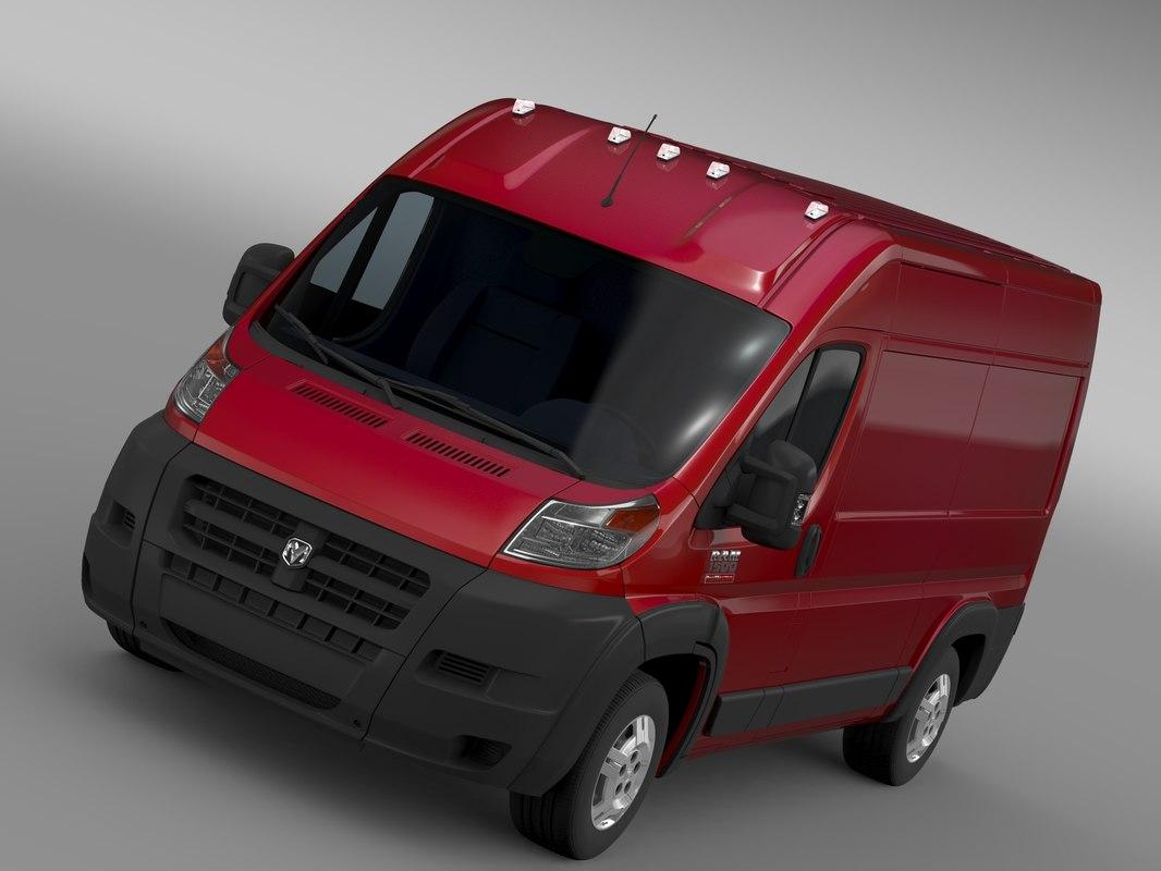 3d model ram promaster cargo 1500