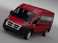 3d model ram promaster window van