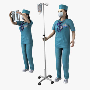 doctor rigged 3d model