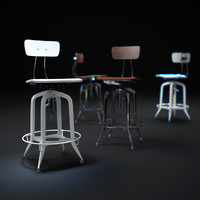 3d model vintage-toledo-bar-chair