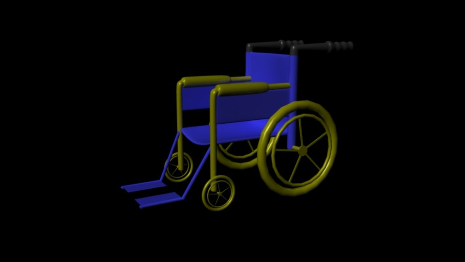 wheel chair 3d ma