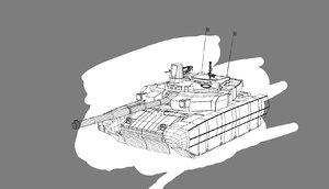 3d model of ukrain tank bm oplot