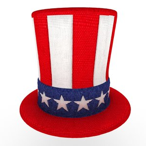 3d uncle sam s hat model
