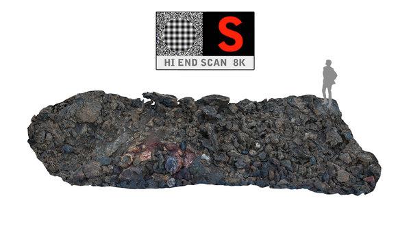 lava scanned 8k 3d model