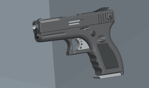pro engineer pistol 3d 3ds