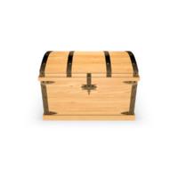 Wooden empty chest. Light wood