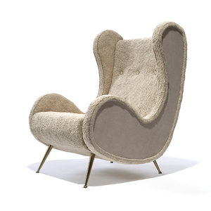 3d max mid-century italian chair