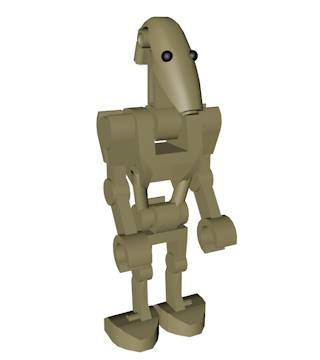 lego battle droid character 3d model