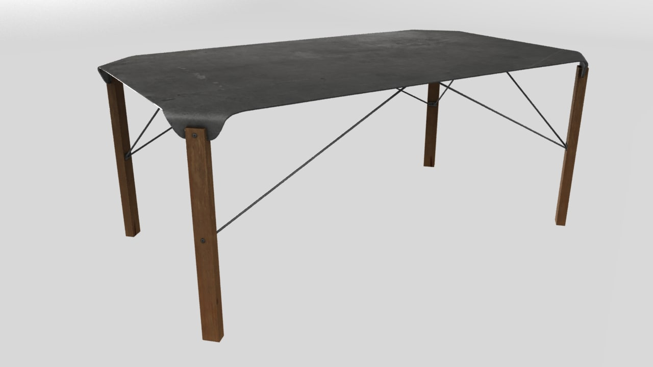 3d industrial table