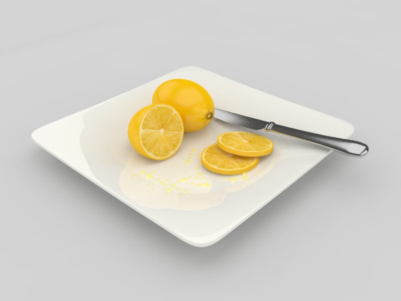 3d model lemon fruit