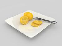 3d model lemon fruit