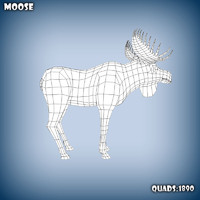 3ds max base mesh moose