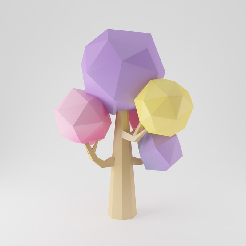 3ds max cartoon toon tree