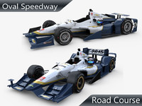 3d indycar chevrolet aero kit model