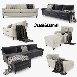 crate sofa barrel montclair max