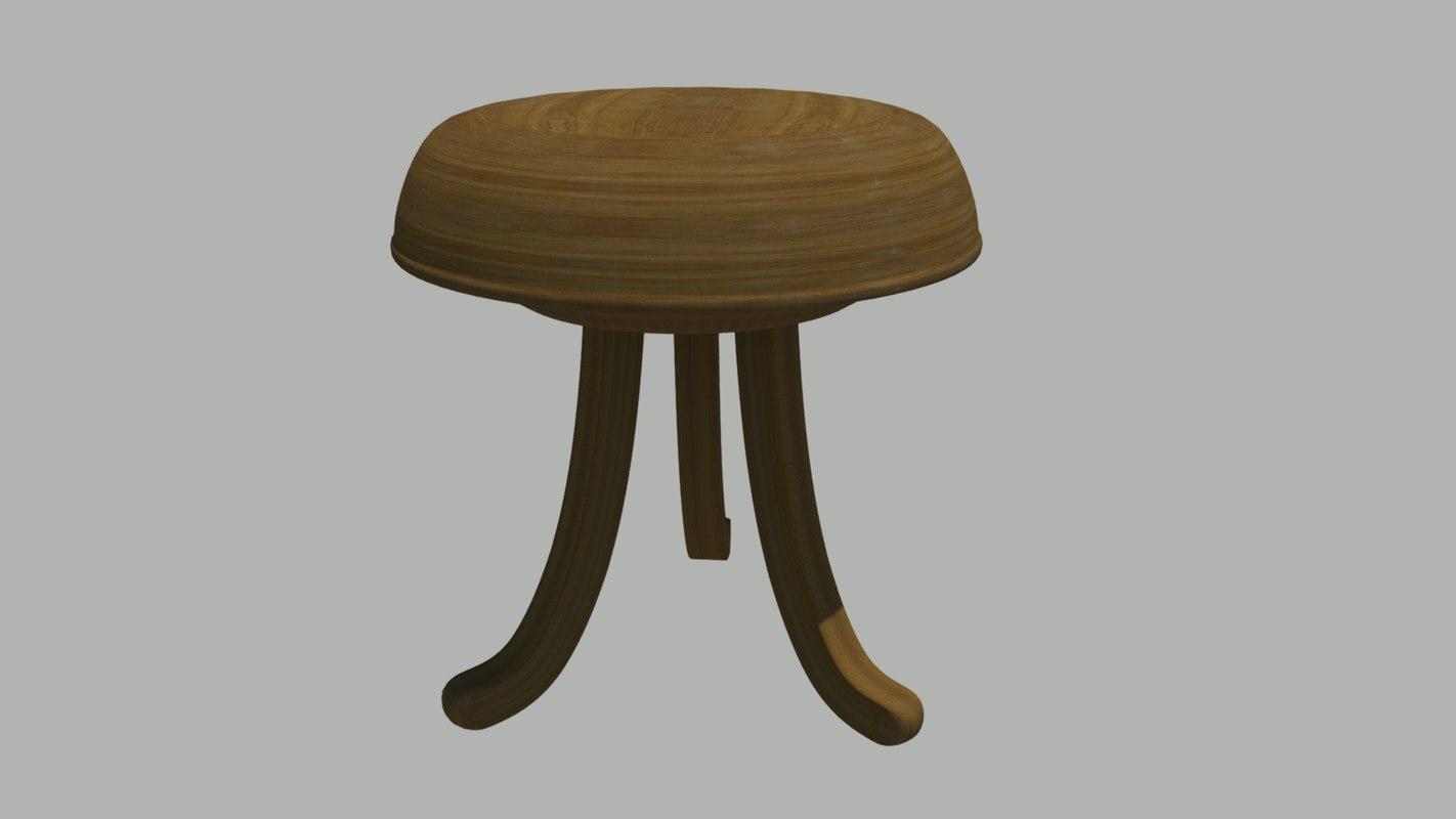 obj vintage stool