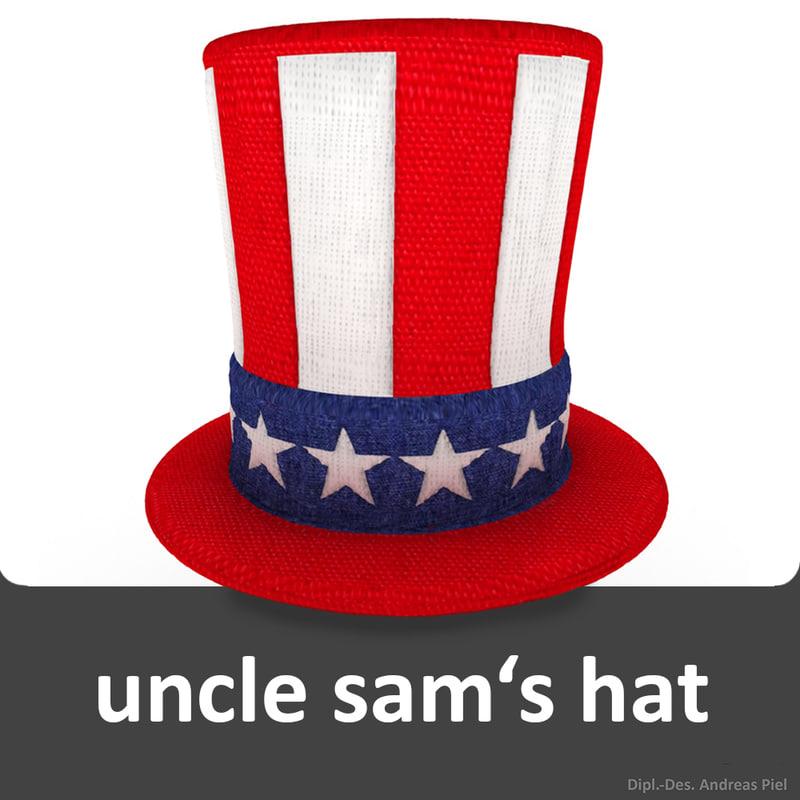 3d uncle sam s hat model