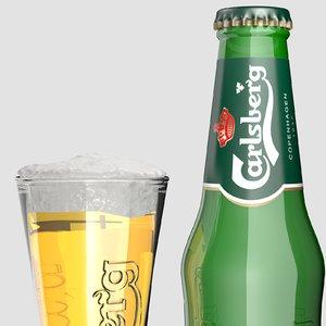 3d bottle carlsberg