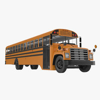 schooll bus 3 rigged 3d model