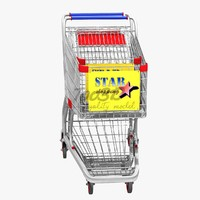 shopping cart 3d model